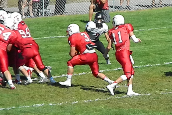 James Sullivan (3) finds the end zone.