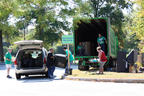 Electronic devices are donated during last weekend's 6th Annual Zero Waste Day in Tewksbury.