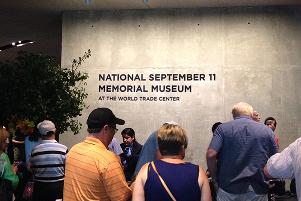 Visitors pay tribute at the museum