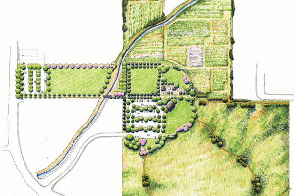 A rendition of  the Master Plan for  Wheadon Farm Park.