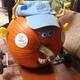"""The Parks & Recreation Commission's pumpkin racer, dubbed """"Polly Wog,"""" took second place."""