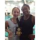 Madison with swim coach Allison Bardowell. Photo courtesy of Stephanie Lilley