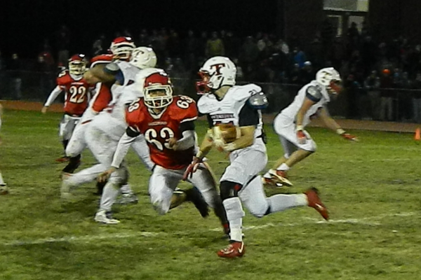 Masco's defenders spent most of the night chasing Tewksbury's Jimmy Hirtle (21).