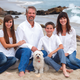 The Aellig's at the beach. Husband Lee and Jancee, with daughter Shaina and son Chase.