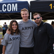 The Bachelor's Catherine Giudici Lowe and Sean Lowe with Operation Once in A Lifetime Director Patrick Sowers.