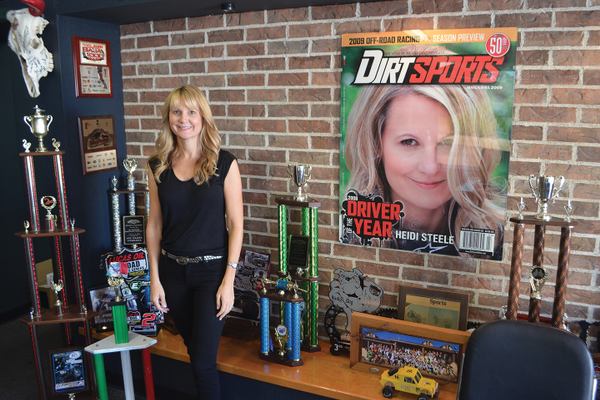 Among Heidi's accomplishments was being first female driver to win the 2008 Dirt Sports Magazine Driver of the Year.