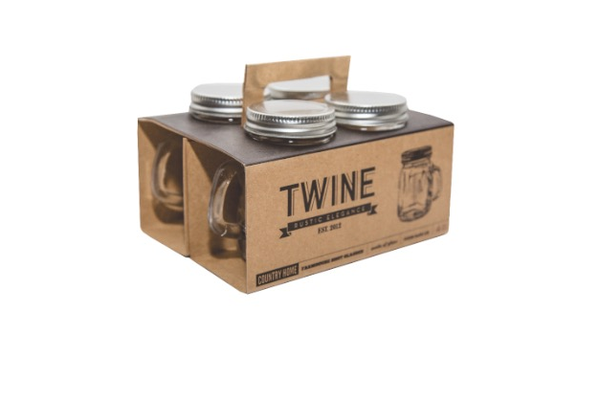 Twine Rustic Elegance Farmhouse Shot Glasses, $9.99 (set of 4) at Redneck Bling, 492 Main Street, Placerville. 530-558-0722, getredneckbling.com