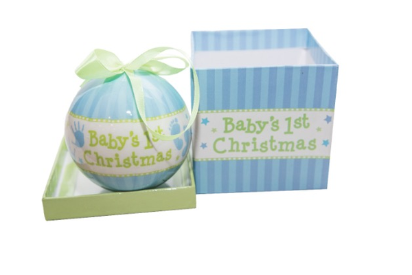 Baby's First Christmas Ornament, $8.99 at Starlight Starbright. 711 Sutter Street, Folsom. 916-983-9977, shopstarlightstarbright.com.