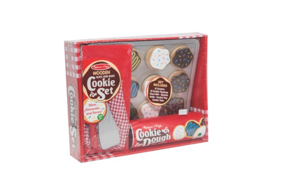 Melissa & Doug Wooden Slice and Bake Cookie Set, $19.98, and Melissa & Doug Canvas Creations, $8, at Craft Castle, 3374 Coach Lane, Cameron Park. 530-672-9575, craft-castle.com.