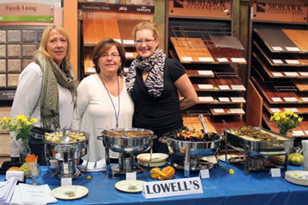 Representing Lowell's Restaurant was Jennifer Stevens, owner Lydia Kotsianas, and Nicole Gober