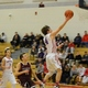 Nate Tenaglia (4) had a cereer high 33 points against Chelmsford.