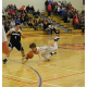 Nate Tenaglia (4) sprawls for a loose ball against Wilmington