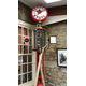 An old gas pump at the Lincoln Highway Experience Museum.