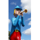 Little Boy Blue blowing his horn along the Lincoln Highway.