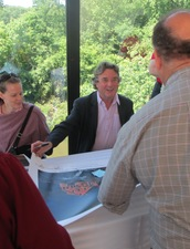 Jamie Wyeth signs autographs at the Brandywine River Museum of Art in 2013
