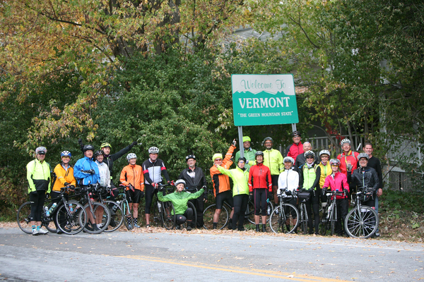 The Trek Travel group in Vermont