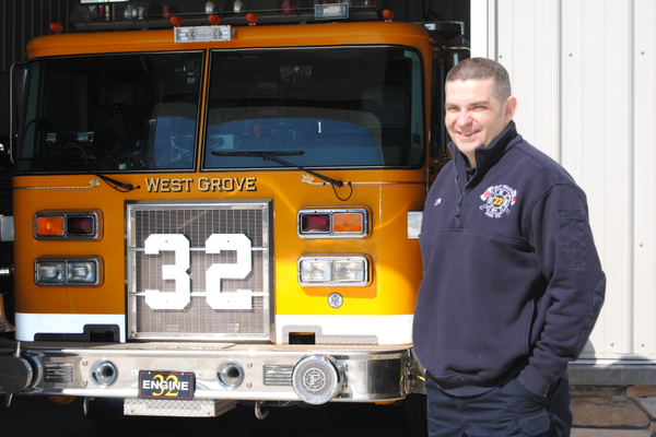 Photo by Steven Hoffman In addition to being a martial arts instructor, Landenberg resident Rob Kloss has been a volunteer with the West Grove Fire Company for the last five years.