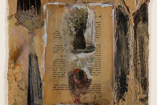 An example of Hersh's work as an artist creating with found art.