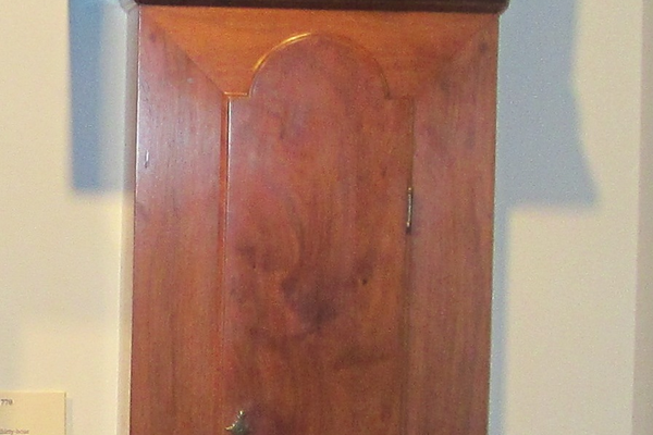 This circa 1775 tall-case clock by Isaac Jackson is on display at the Chester County Historical Society in West Chester.