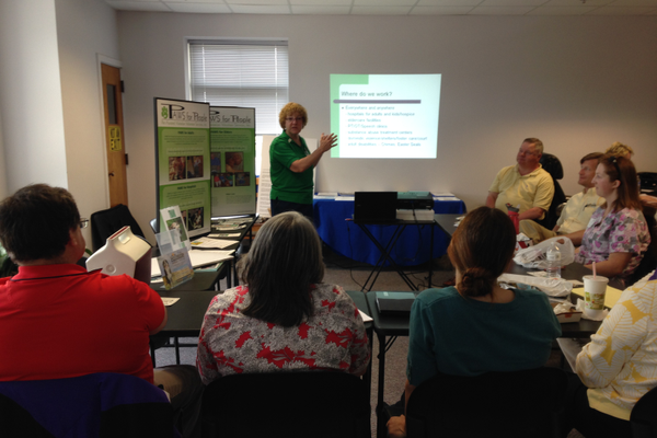 Courtesy photo The lunch & learn session with Lynne Robinson, PAWS for People.