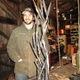 Matt Harris operates the Harris Metalsmith Studio in a converted shed at Principio.