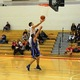 Alex DiRocco drives the lane for two of his game-high 26 points against Bedford.