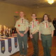 Devon King, Alex Viens, and Bryan Young of Troop 322 were awarded their Eagle Scout Badges. Photo by Jenny Nagle.