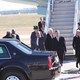 President Barack Obama waves as he prepares to head to Pellissippi State for a speech. Photo: Crystal Huskey