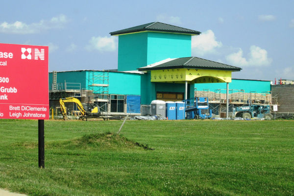To the east of Middletown, the HealthSouth medical complex is under construction.