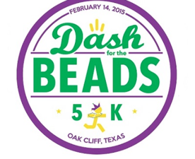 6th Annual Dash for the Beads 5K  - start Feb 14 2015 0800AM