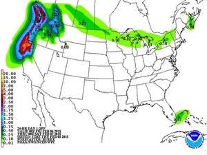 NOAA Forecasted Rainfall Through Next Week