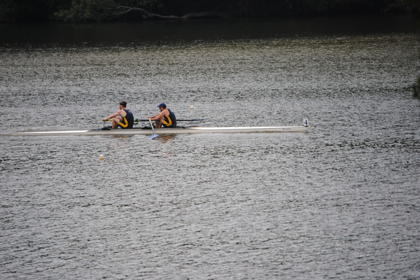 Sculling events took place on the first day of the regatta.