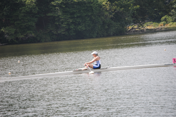 Noxontown Pond is an ideal venue for the Diamond State Masters Regatta.