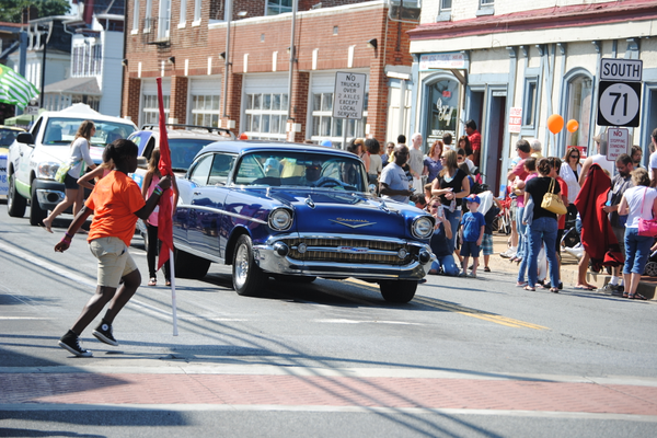 Classic cars were featured in the parade.