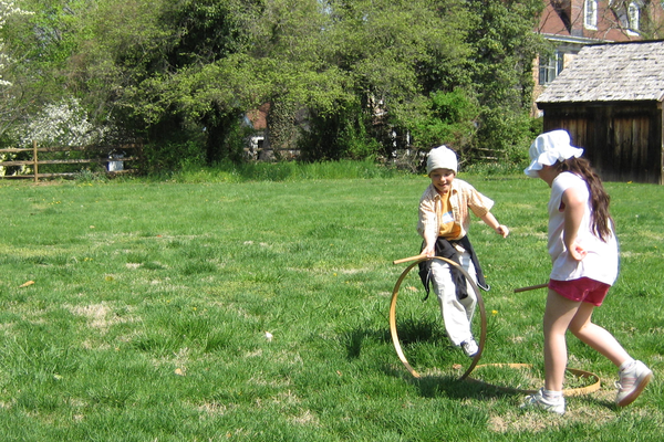 Courtesy photo One workshop allows youngsters to enjoy 18th century games.