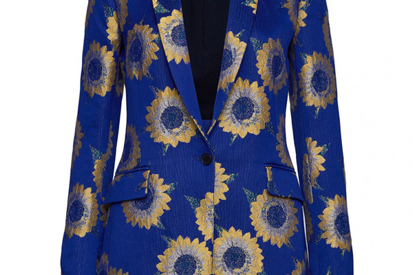 Sunnie Long Blazer in Sunflower by Alice and Olivia - $495