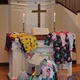 """Over 75 pairs of pajamas were collected last Sunday morning for Community Giving Tree as a result of TCC's Pajama Sunday. Morning attendees were invited to """"bring a pair - wear a pair"""" in an effort to raise awareness of those who cannot afford pjs for themselves."""