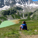 Kim Hess takes time to reflect in Russias Baksan Valley in July 2012  Courtesy Kim Hess