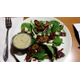 The spinach salad with walnut, cranberry and bleu cheese chunks at One Lincoln