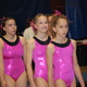 All the gymnasts at the Pink Invitational wear matching leotards that symbolize the unity of the event.
