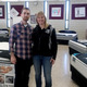 BMMS Band Director Robert Glynn with Bellingham Friends of Music President Barbara Chambers
