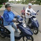 Ann (left) and Geri in October 2010. For years, they rode their Yamahas from garage sale to garage sale for years, looking for steals.
