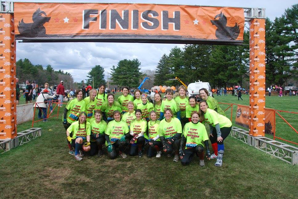 All 24 women at the finish line.  As a team, over $3000 dollars were raised to support the vital work of the National MS Society.