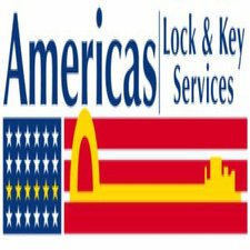 Medium americas lock and key logo