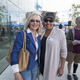 MB resident and former MB Mayor Portia Cohen with former MB Library Commissioner Cheryl Clemmons. Photo by Brad Jacobson.
