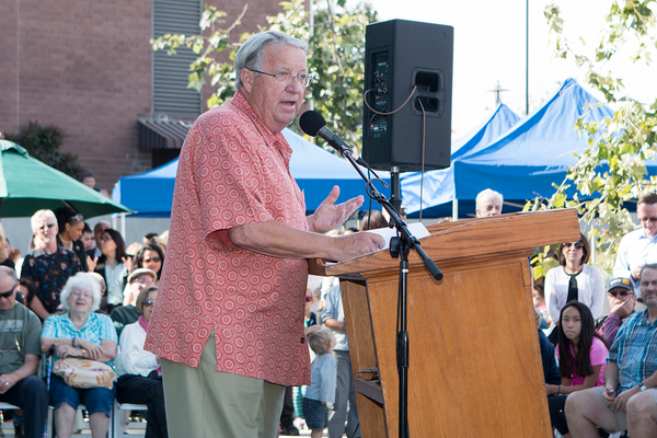 Supervisor Don Knabe delivered remarks. Photo by Brad Jacobson.