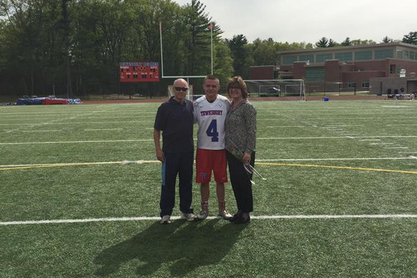 David Dempsey and his parents.