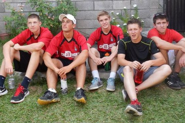From left: Tyler Smith, Greg Driscoll, Nate Volz, Derek Needham and Mike Palermo will be serving in El Salvador for a month this summer.