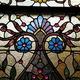 A Tiffany window detail from the Graceland Inn.