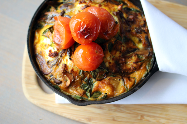 Frittata at Love & Salt brunch